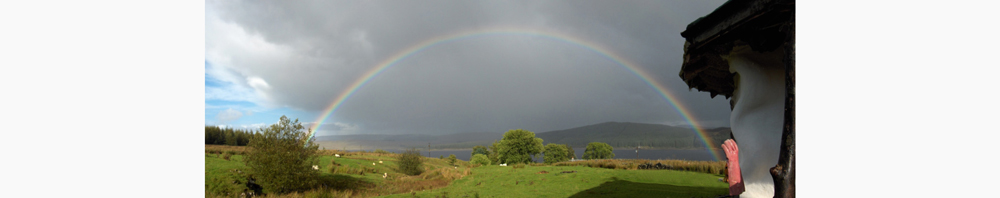 Rainbow over Loch Doon