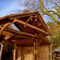 woodshed with roof  porch and sides